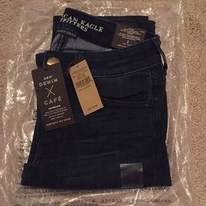 Brand new American Eagle dark jeans 2 short